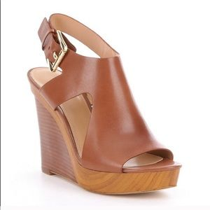 Michael Kors Josephine Wedges Color:Luggage